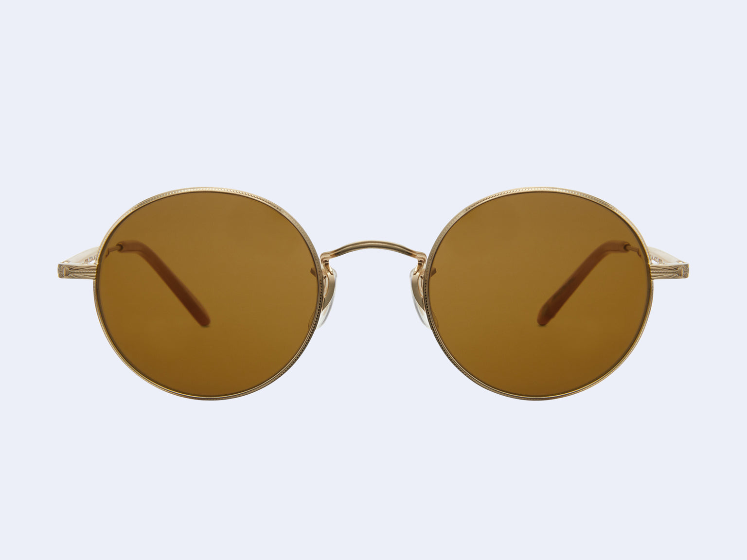 Garrett Leight Lovers (Matte Gold-Amber Honey with Pure Brown Lens)