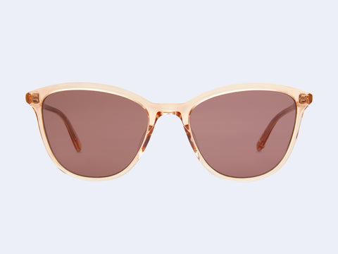 Garrett Leight Magician (Pink Crystal with Semi-Flat Lilac Lens)