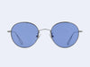 Garrett Leight Mark McNairy #1 Collab (Silver with Blue Lens)