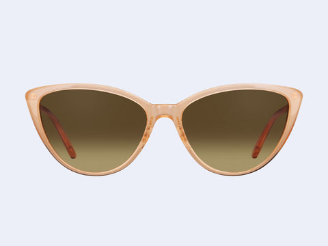 Garrett Leight Mildred (Michelle-Gold with Yellow Brown Gradient Lens)