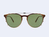 Garrett Leight Milwood Clip (Gold with Green CR-39)