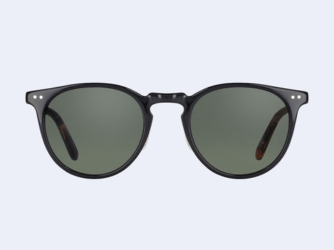 Garrett Leight Ocean Sun (Black-Black Amber-Gold with G15 Lens)