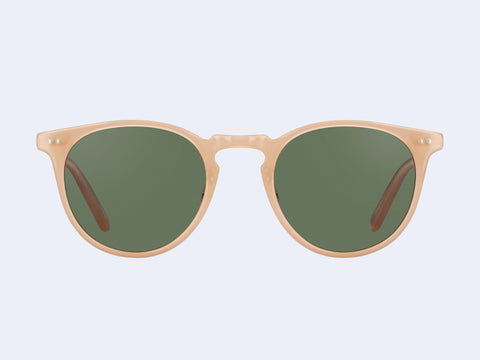 Garrett Leight Ocean Sun (Peach-Silver with Green Lens)