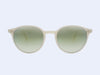 Garrett Leight Pacific Sun (Ivory with Green Layered Mirror Lens)