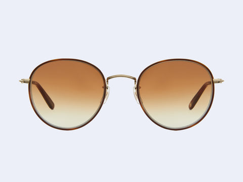 Garrett Leight Paloma Sun (Marigold Tortoise-Gold-Dark Honey Tortoise with Semi-Flat Yellow Brown Gradient Lens)