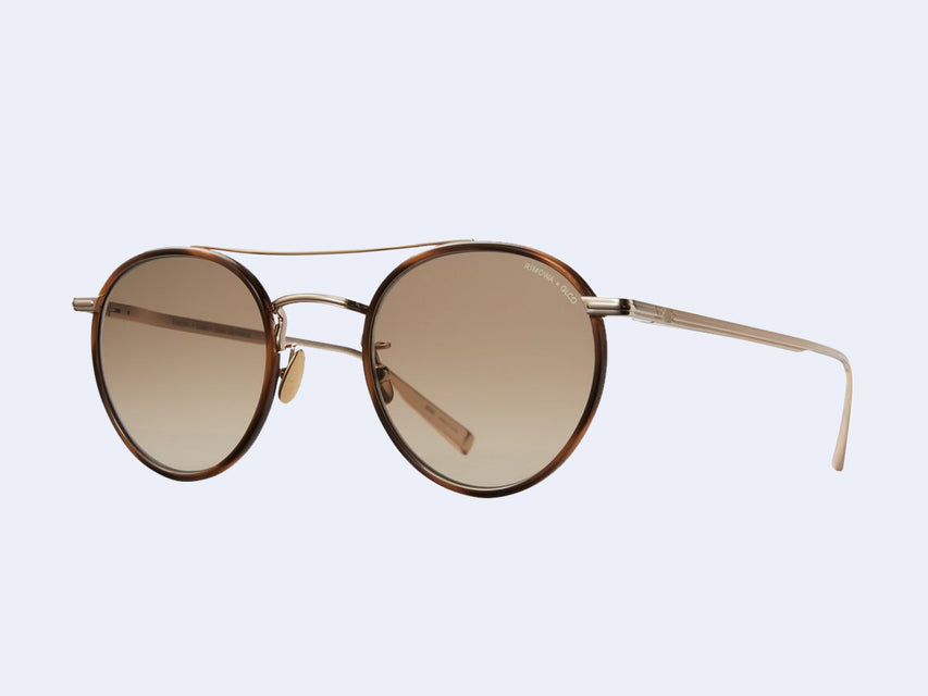 Garrett Leight RIMOWA X GLCO Sun (Demi Blonde-Gold with Semi-Flat Sepia Gradient Lens)