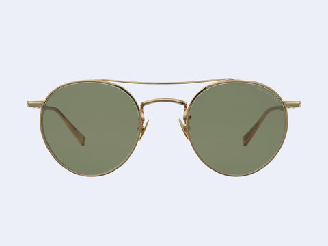Garrett Leight RIMOWA X GLCO Sun (Gold with Semi-Flat Green Lens)