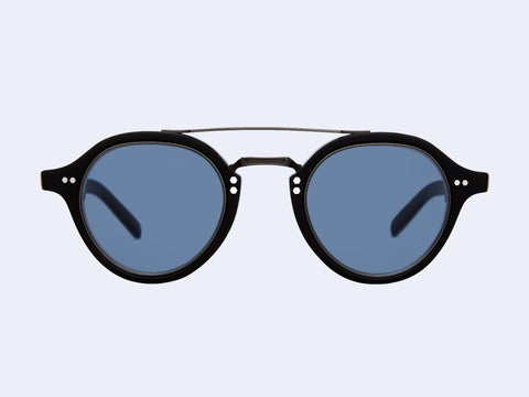 Mr Leight Ridley S (Matte Black-Pewter-Black with Semi-Flat Blue Lens)