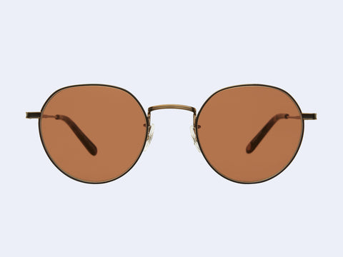 Garrett Leight Robson Sun (Brushed Gold-Brown Marble Tortoise with Semi-Flat Oak Lens)