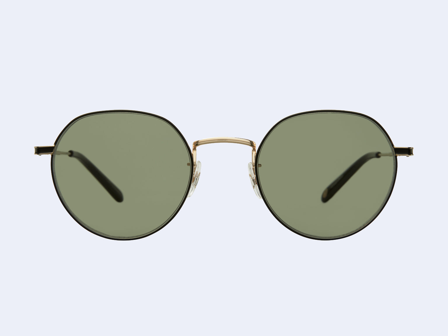 Garrett Leight Robson Sun (Gold-Black with Semi-Flat Green Lens)