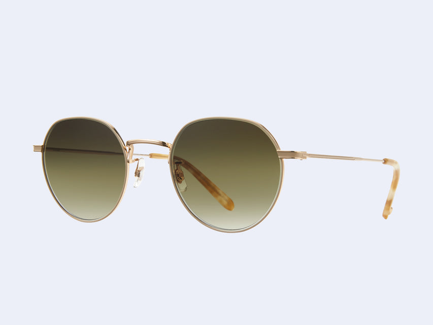 Garrett Leight Robson Sun (Gold-Blonde Shell with Semi-Flat Olive Gradient Lens)