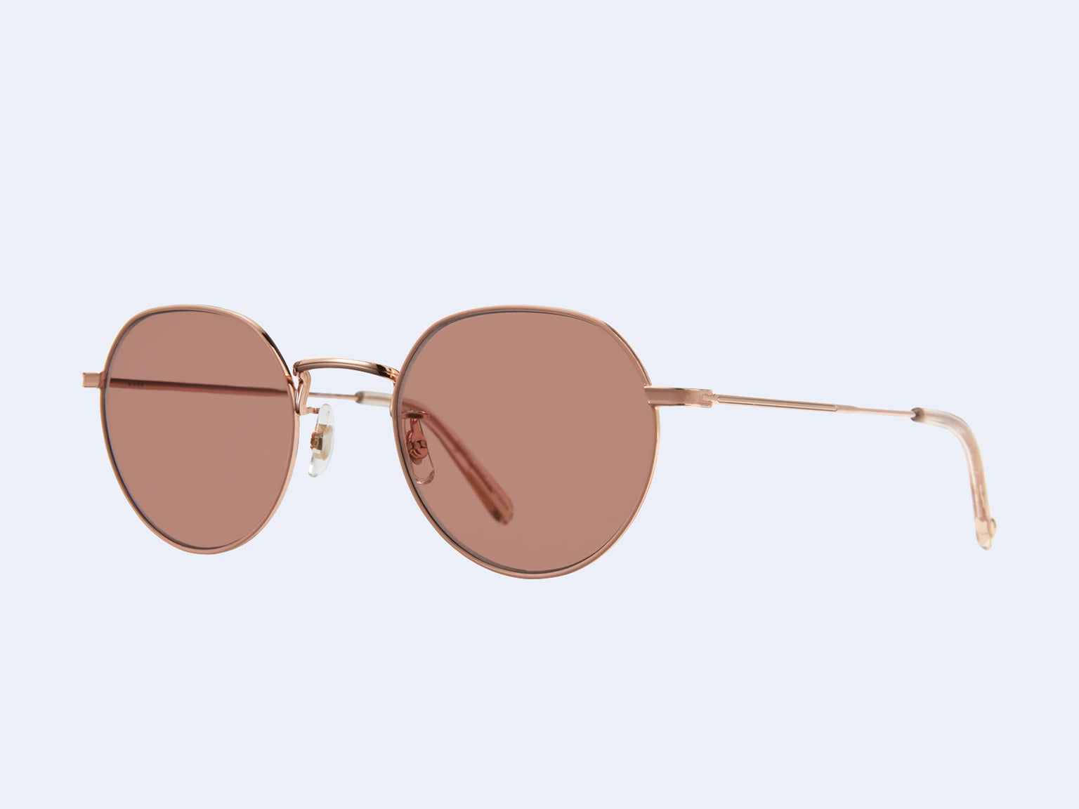 Garrett Leight Robson Sun (Rose Gold-Nude with Semi-Flat Bordeaux Lens)