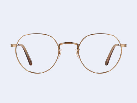 Garrett Leight Robson (Brushed Gold-Whiskey Tortoise)