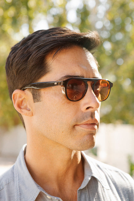 Garrett Leight Harding X Sun (Amaro Laminate with Hollywood Gradient Lens)