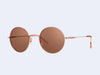 Garrett Leight Seville (Rose Gold-Pink Crystal with Semi-Flat Rose Quartz Mirror Lens)