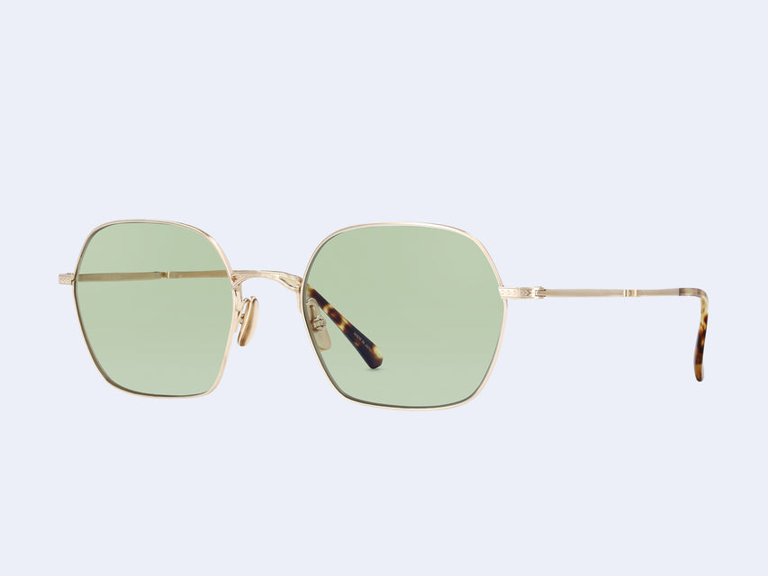 Mr Leight Shi S (12K Matte White Gold-Tortoise with Matcha Lens)