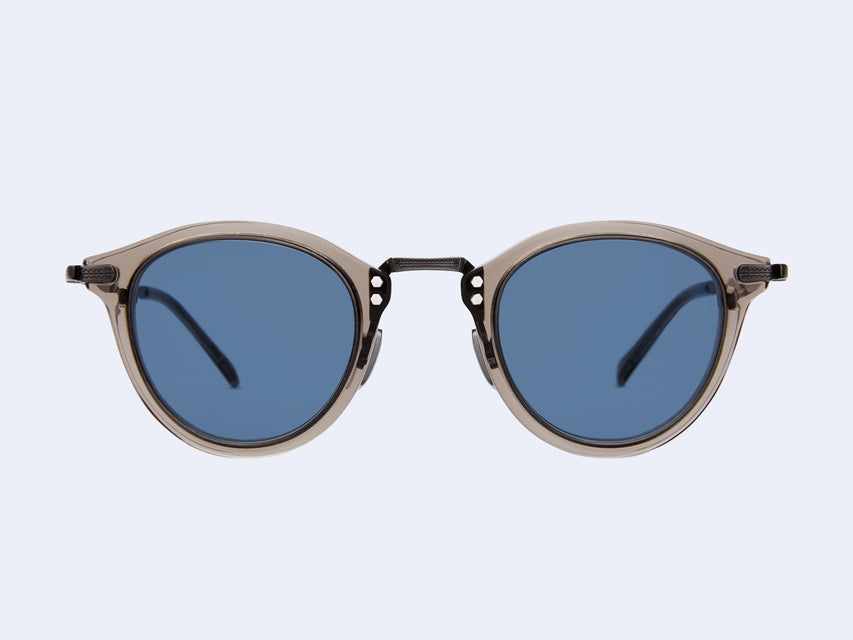 Mr Leight Stanley S (Grey Crystal-Pewter-Grey Crystal with Blue Lens)