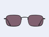 Garrett Leight Steiner Sun (Black-Black with Pure Purple Lens)