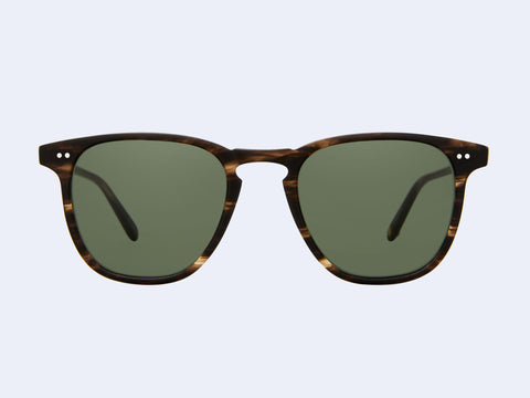Garrett Leight Brooks Sun (Matte Storm Tortoise with Pure G15 Lens)