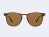 Garrett Leight Brooks Sun (Olive Tortoise with Barley Polar Lens)