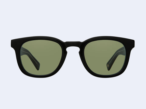 Garrett Leight Kinney X Sun (Black with Valley View Green Lens)