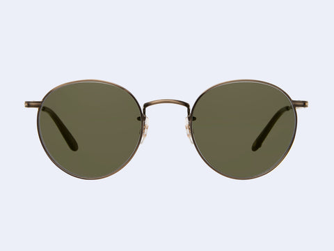 Garrett Leight Wilson M Sun (Brushed Gold-Olive with Semi-Flat G15 Lens)