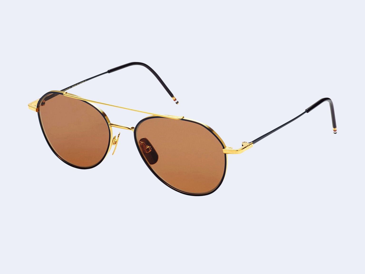 Thom Browne TB-105-C Sun (Navy-Gold with Dark Brown Lens)