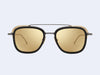 Thom Browne TB-808-A Sun (Matte Black/Gold with Dark Brown Mirror Gold Lens)