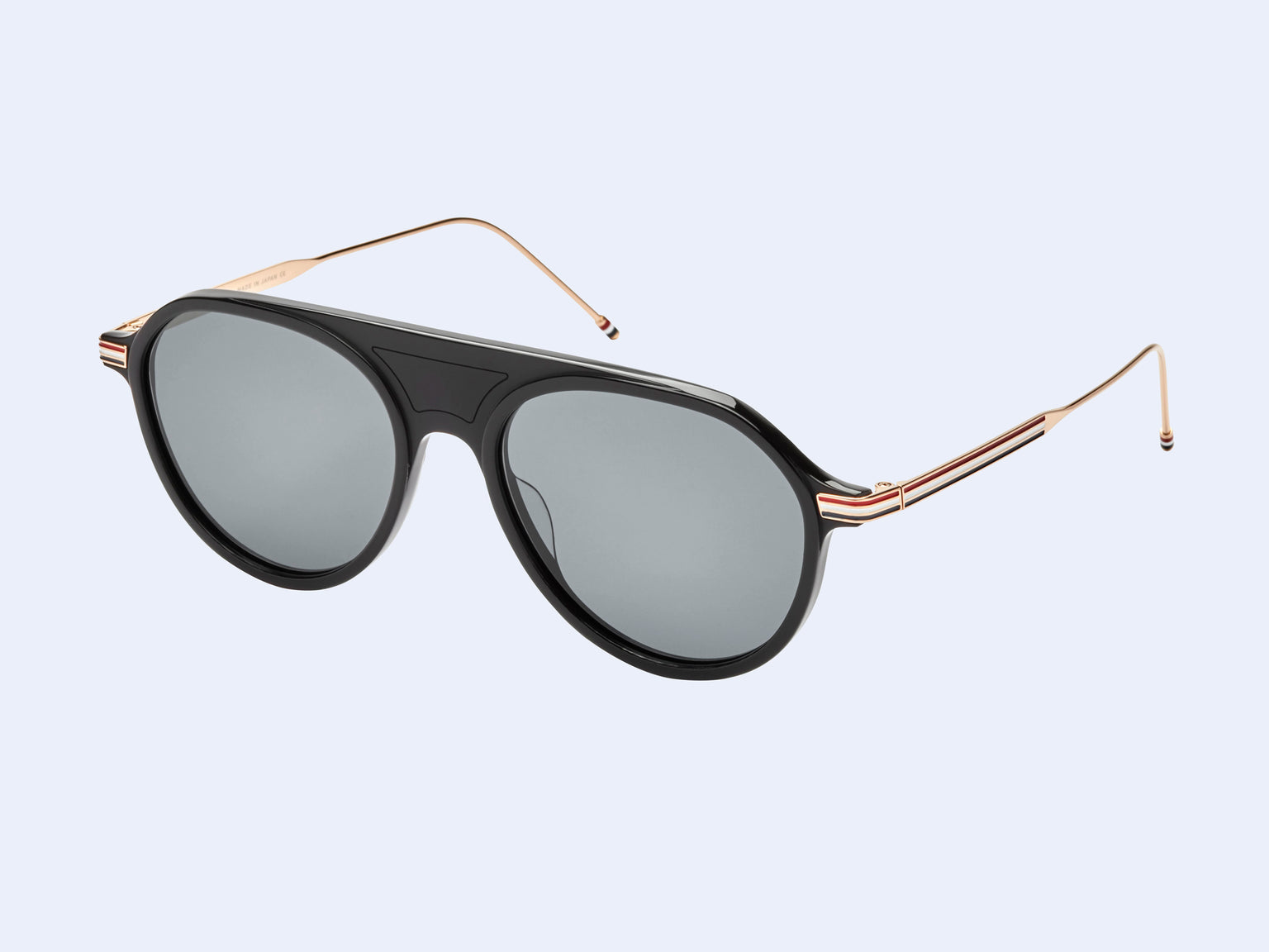 Thom Browne TB-809-A (Matte Black/White Gold with Dark Grey Lens)
