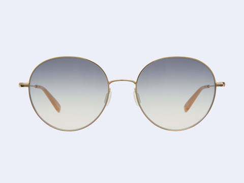 Garrett Leight Valencia Sun (Gold-Peach with Luna Gradient Lens)