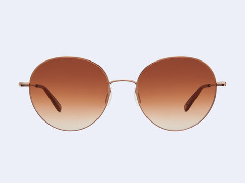 Garrett Leight Valencia Sun (Rose Gold-Auburn with Brunette Gradient Lens)