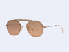 Garrett Leight Van Buren M Sun (Rose Gold with Flat Coral Mirror Lens)