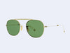 Garrett Leight Van Buren M Sun (Gold with Flat Pure Green Lens)