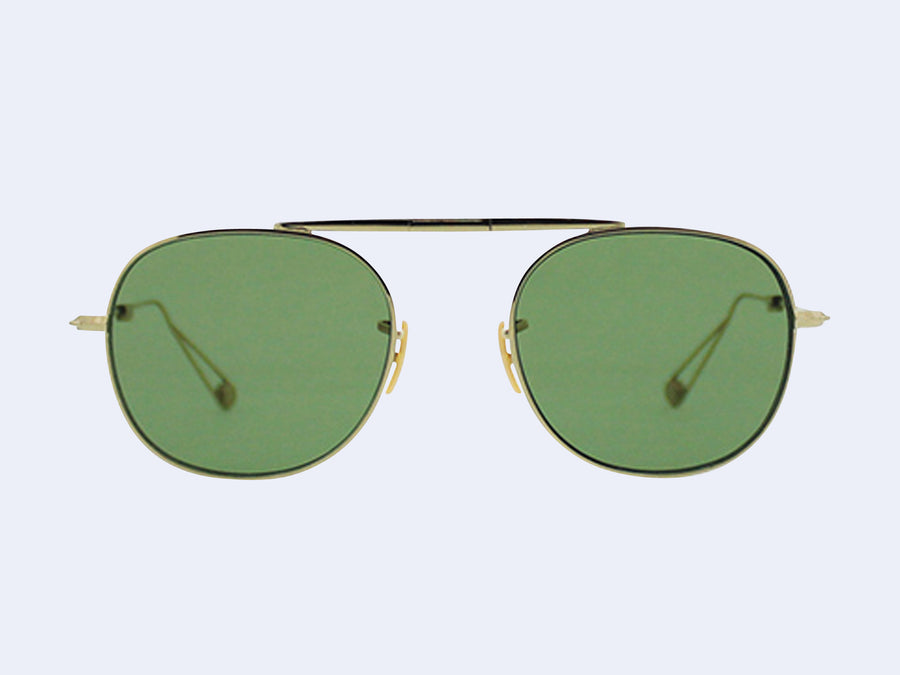 c100aa4161947 Garrett Leight Van Buren M Sun (Gold with Flat Pure Green Lens)