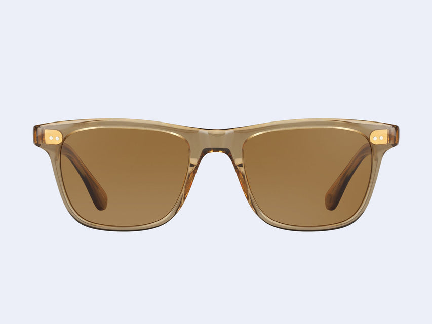 Garrett Leight Wavecrest (Bottle Glass Brown with Semi-Flat Sable Polar Lens)