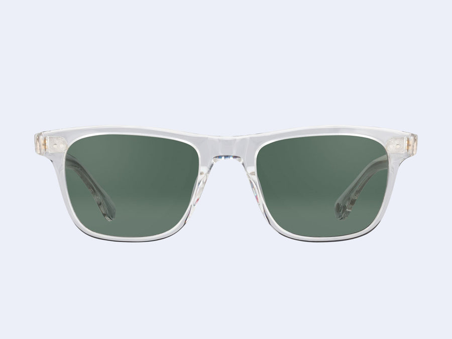 3a38e8f5ce Garrett Leight Wavecrest (Crystal with Semi-Flat with Green Grey ...