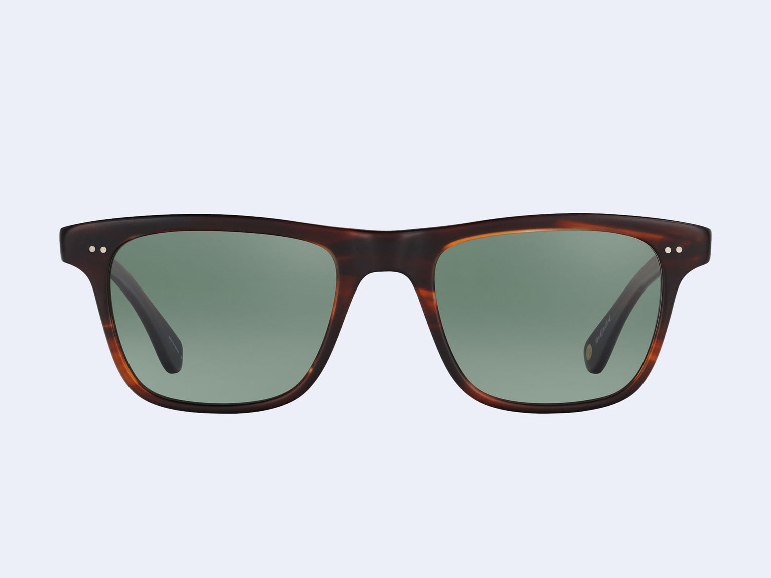 Garrett Leight Wavecrest (Matte Mahogany Tortoise with Semi-Flat Green Grey Polar Lens)