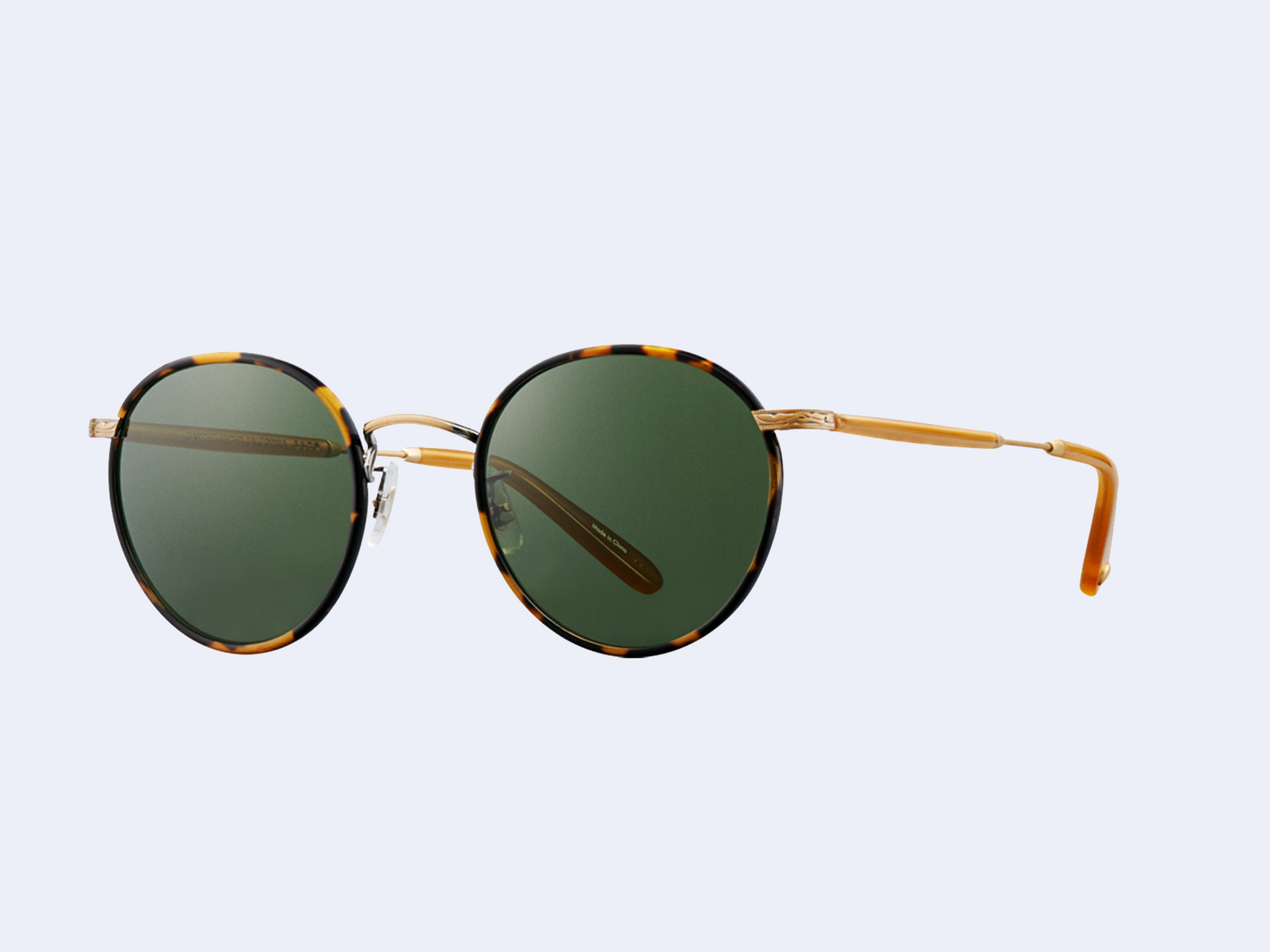 Garrett Leight Wilson Sun (Tokyo Tortoise - Amber Honey with Pure Green Glass)