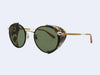 Garrett Leight Wilson Sun Shield (Matte Bourbon Tortoise with Green Lens)