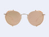 Garrett Leight Wilson Sun Shield (Pink Blush with Pink Halo Mirror Lens)
