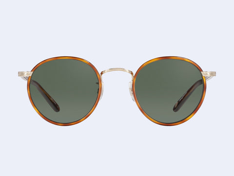 Garrett Leight Wilson Sun (Buttorscotch Tortoise-Gold-Dark Honey Tortoise with Pure G15 Glass Lens)