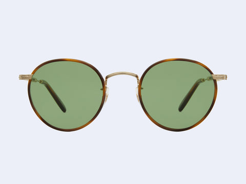 Garrett Leight Wilson Sun (Demi Blonde-Gold-True Demi with Semi-Flat Pure Green Lens)