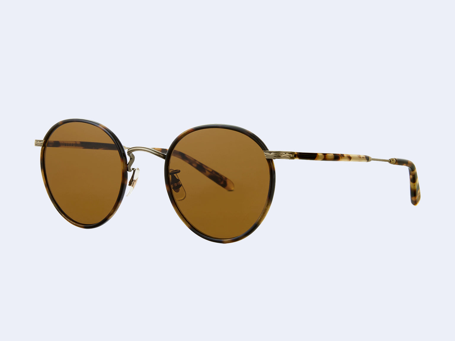 Garrett Leight Wilson Sun (Tortoise-Antique Gold II-Yellow Tortoise with Semi-Flat Pure Brown Lens)