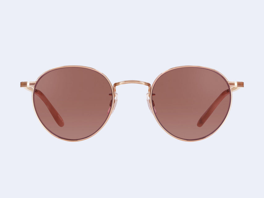 Garrett Leight Wilson M Sun (Rose Gold-Peach with Semi-Flat Bordeaux Lens)