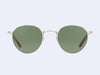 Garrett Leight Wilson M Sun (Silver-Blonde with Semi-Flat Green Lens)