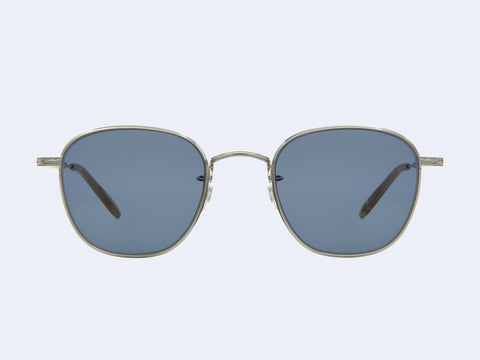 Garrett Leight World Sun (Silver-Blonde with Semi-Flat Navy Lens)
