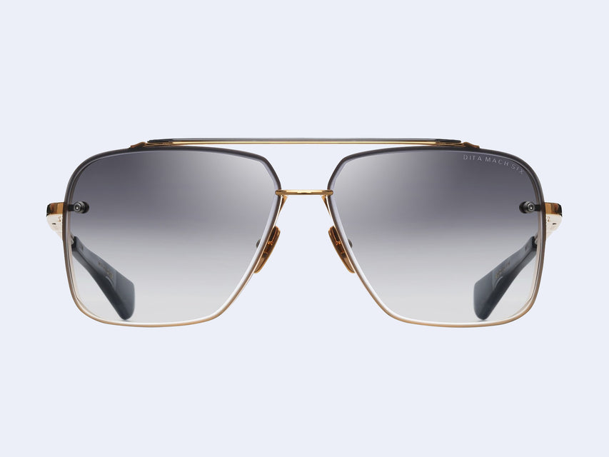 DITA MACH-SIX DTS 121 (Yellow Gold and Black Rhodium with Dark Grey to Clear Lens)
