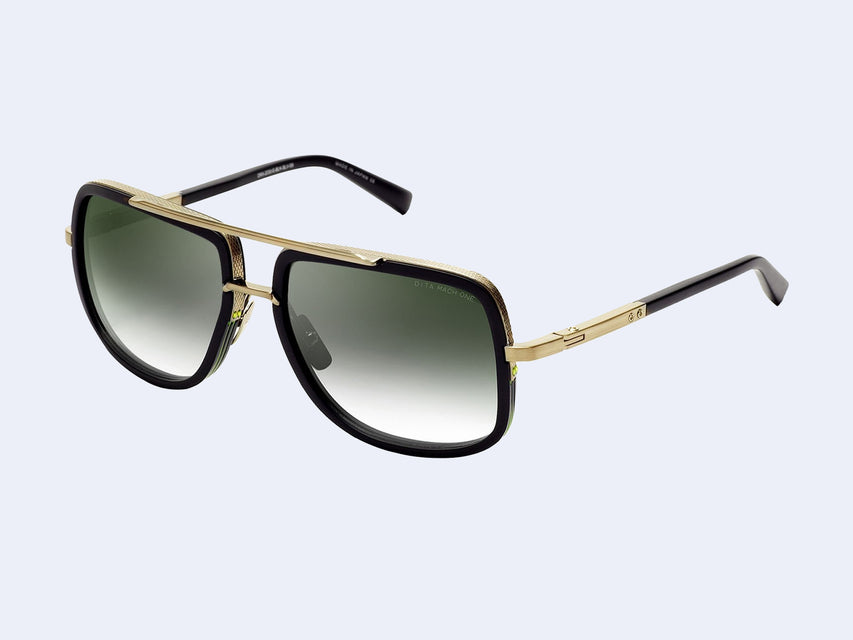 DITA MACH-ONE DRX 2030 (Black-White Gold with G-15 Gradient Lens)