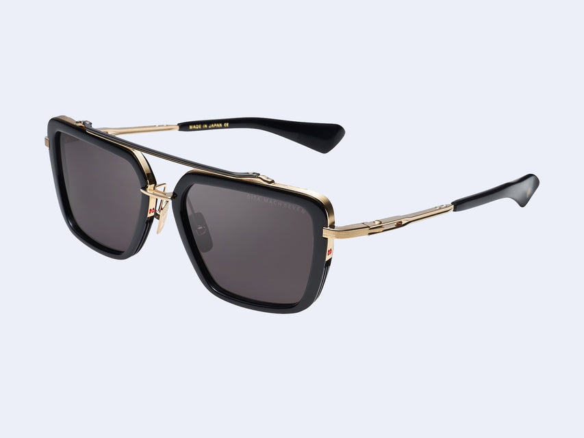 DITA MACH-SEVEN (Black-Yellow Gold with Dark Grey Lens)