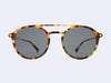 Mykita Tupit (Cocoa Sprinkles Glossy Gold with Dark Blue Solid Lens)
